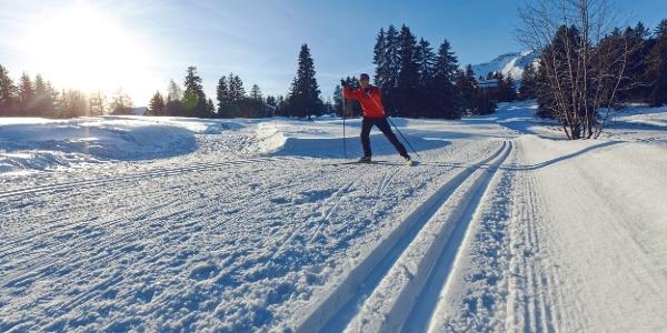 Langlaufloipe Moubra auf dem Jack Nicklaus Golfplatz