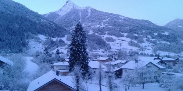 Winter, Blick vom Balkon