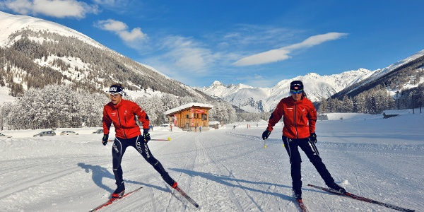 Cross-country skiing at the FIS racing track in Ulrichen