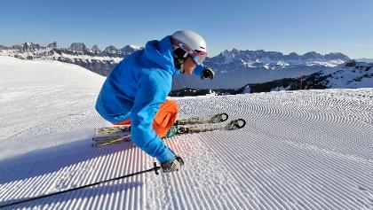 Skifahren am Hausberg Flumserberg