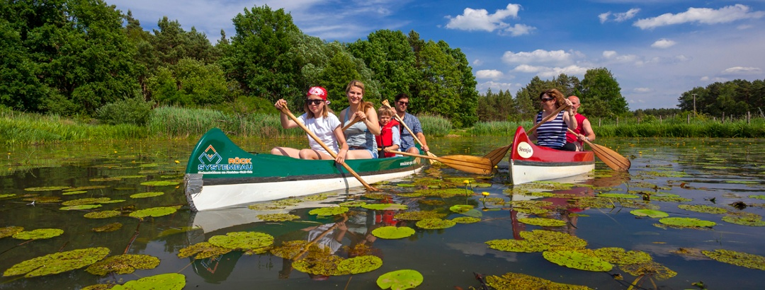 Canoe trip with the family in Wahrenbrück