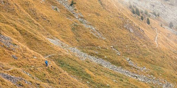 Abfahrt Alp Laret
