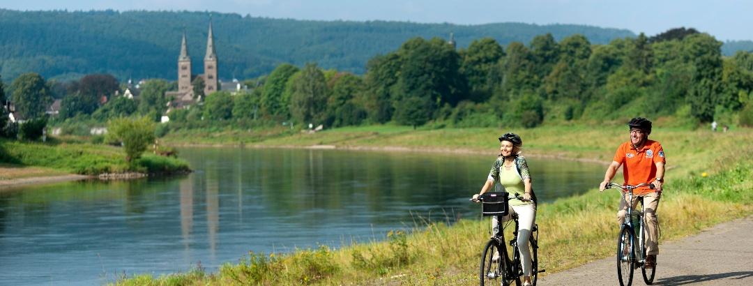 Radler an der Weser