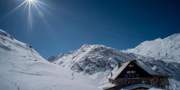 Karlsruher Hütte Winter