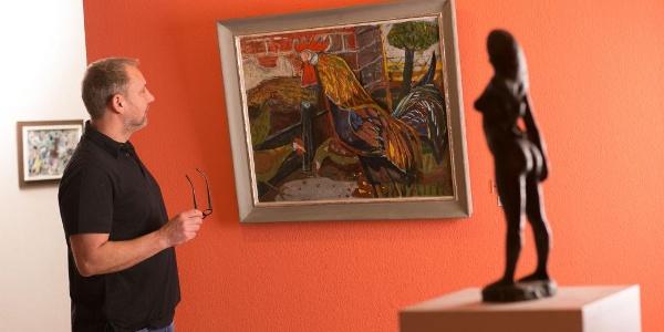 Otto Dix, der Hahn im Museum Pachen
