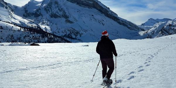 Die Wanderung zum Gemmipass geht auch mit Schneeschuhen.