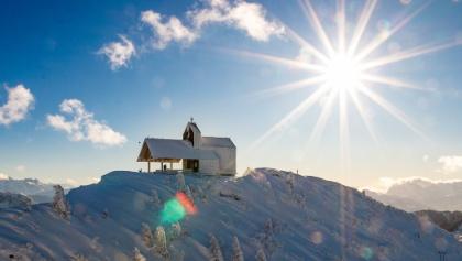 am Gipfel des Hochfelln befindet sich die Tabor Kapelle
