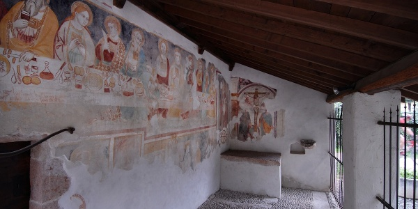Front porch of Sant'Apollinare Church in Prabi