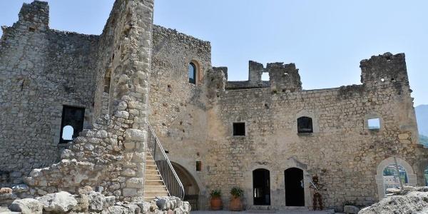 The interior of the castle of Drena