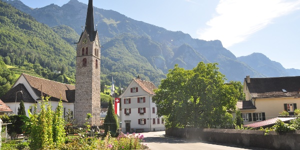 Das ehemalige Garnisonstädtchen Walenstadt mit Kirche