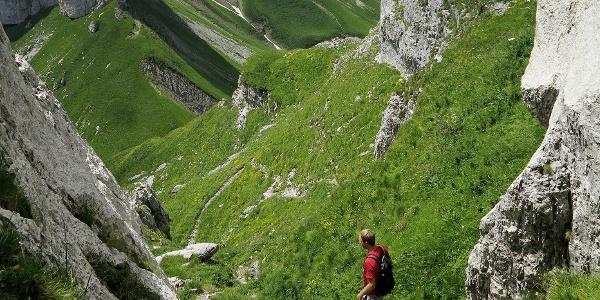Kurz unterhalb des Gipfels der Tour de Mayen.