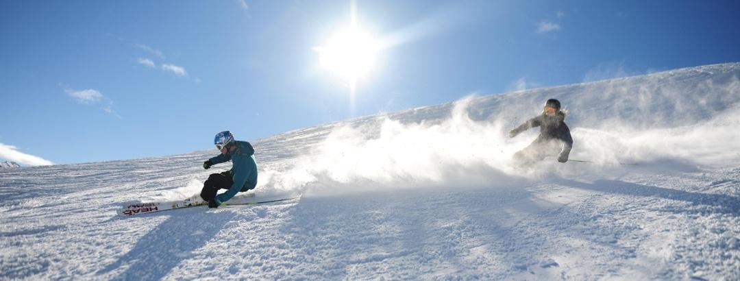 Skifahren auf den Pisten von Arosa Lenzerheide