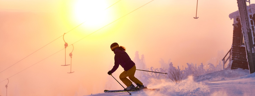 Skiing in the idyllic lanscape of Großer Arber