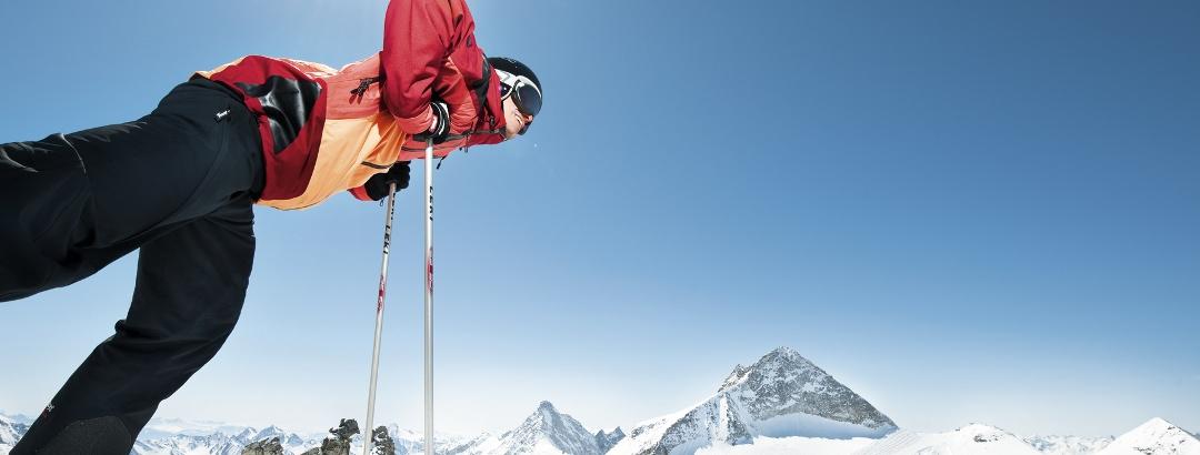 Skifahren am Hintertuxer Gletscher
