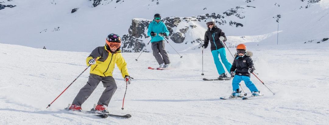 Skifahren mit der Familie in Val Thorens