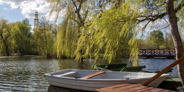 A sástói kilátó lábánál csónakázhatunk