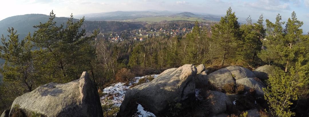 Auf dem Carolafelsen bei Jonsdorf (569 m ü. NN)