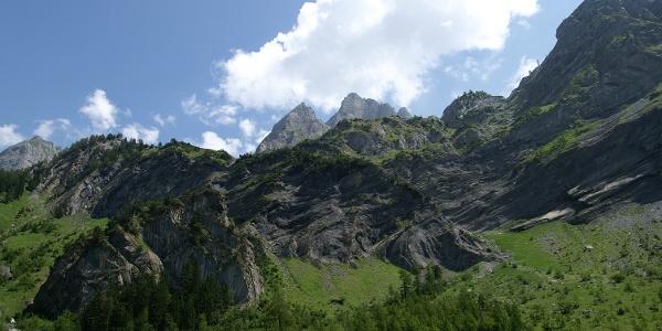 Berge über dem Vallon de Nant.