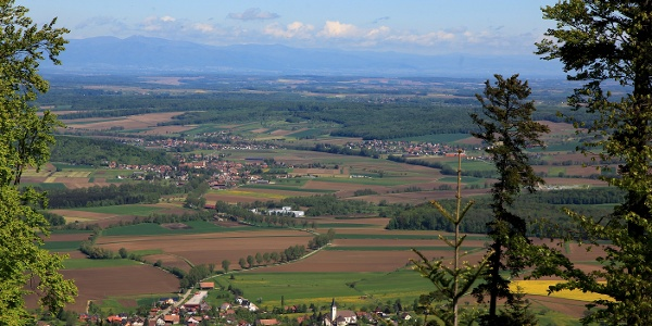Ausblick nahe der Ruine Blauenstein.