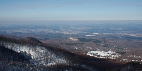 The view from Galya lookout tower to the northwest.