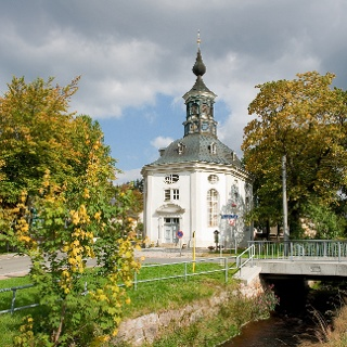 Trinitatiskirche in Carlsfeld, älteste Rundkirche Sachsens