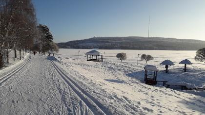 Jäätiö fitness track 2 km, Vuokatti Finland
