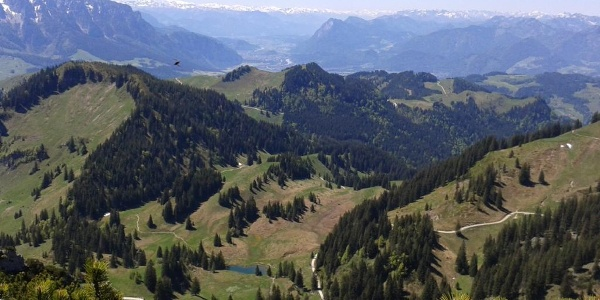 Blick vom Geigelstein in das Inntal