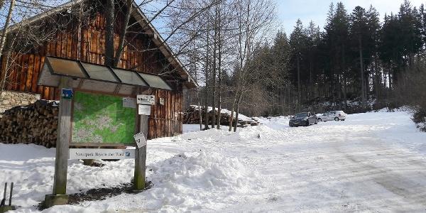 Start Wanderparkplatz Oberfrauenau