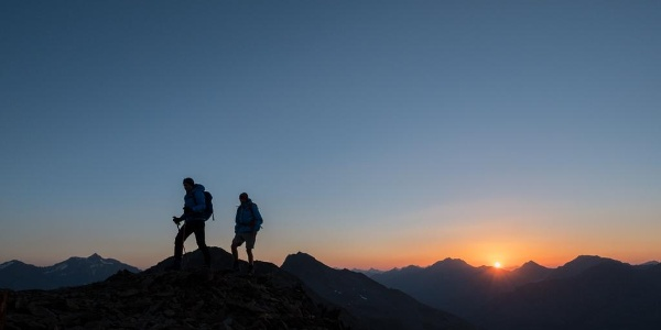 Sonnenaufgang auf dem Weg zum Saykogel