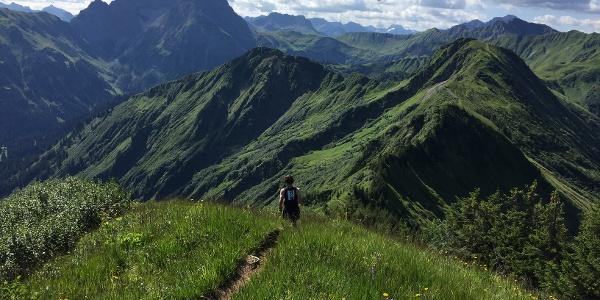 Am Grünhorn mit Blick auf den Widderstein