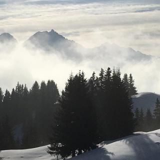 view towards the Albula valley