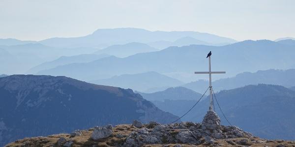 Wenn ich zwei Flügel hätt': Aussicht vom Großen Ebenstein nach Süden
