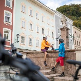 Tauernradweg und Alpe-Adria-Radweg in Hallein