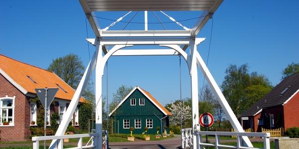 Typische Klappbrücke
