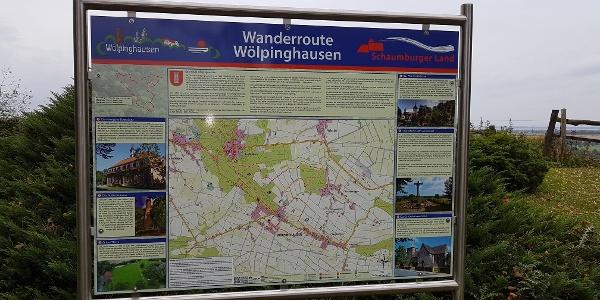 Wanderroute Wölpinghausen Infotafel Bergkirchen