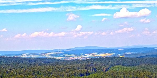 Blick vom Großen Rabenberg nach Norden Richtung Tillenberg