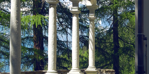 Columns at the forest chapel in Visperterminen