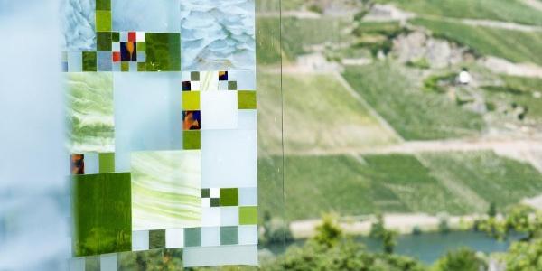 Blick vom ObstArtWeg auf die Weinberge von Wehlen