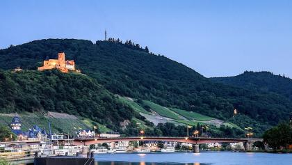 The newly restored castle Landshut over the Mosel
