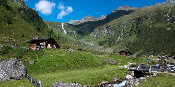 Zustieg zur Hütte über die Falbesoner Ochsenalm
