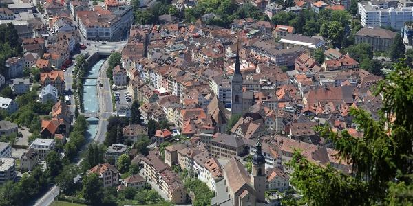 Churer Altstadt von oben