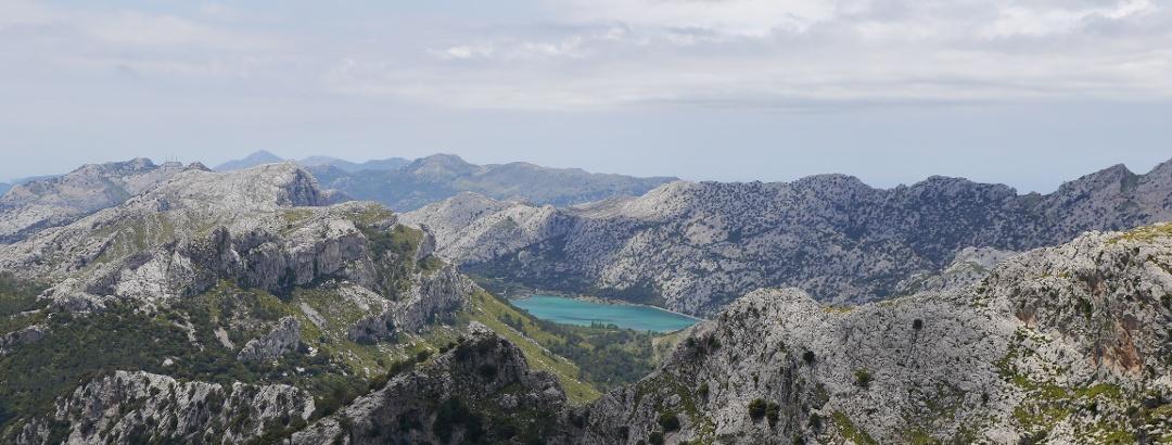 Vista desde la cima en Puig de Massanella