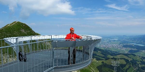 Aussichtsplattform bei der Bergstation Moléson.