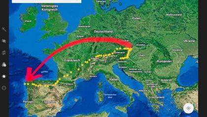 zu Fuss von Wien/Wolfsthal an den Atlantik