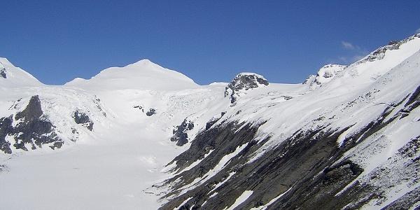 Hohe Riffl zwischen Johannisberg links und Mittlerer Burgstall rechts
