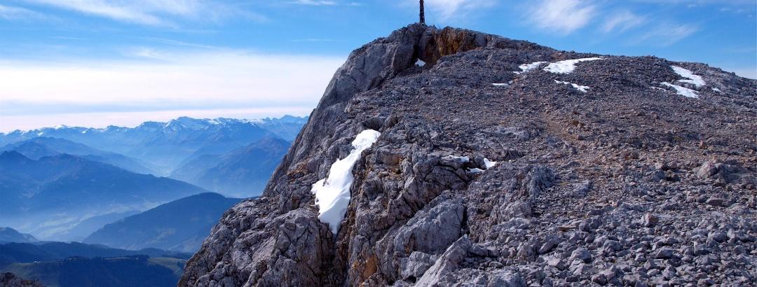 Hochsailer beim Abstieg am Mooshammersteig