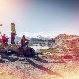 Hikers on the Tour du Val d'Hérens