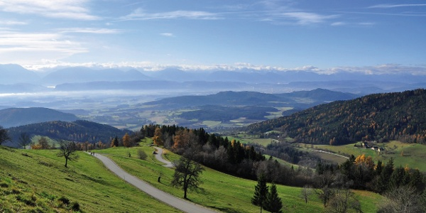 Blick vom Magdalensberg Richtung Klagenfurt