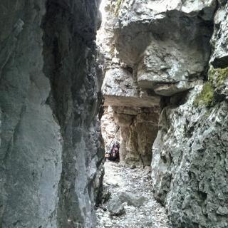 Anfratto - Trincea - Sulla dorsale del M. Cadrega