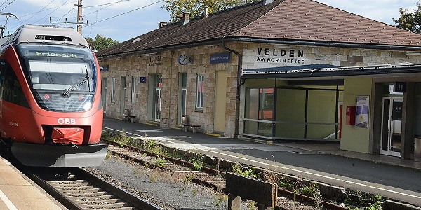 grüne Wanderung: Ausgangspunkt Velden, Nordwestansicht